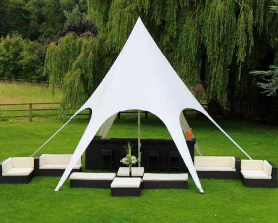 Champagne Bar & Star Tent and Furniture Package, Surrey